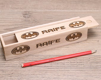 Personalised Wooden Pencil Case Box