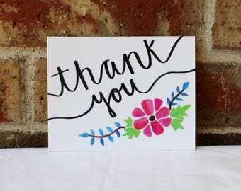 Handmade Thank You Cards - 10 Pack