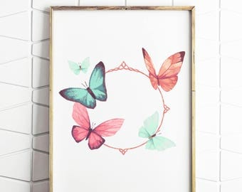 butterfly art, butterfly print, butterfly decor, butterfly download, butterfly wall art, butterfly poster, butterfly art work,