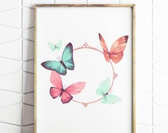 butterfly art, butterfly print, butterfly decor, butterfly download, butterfly wall art, butterfly poster, butterfly art work,