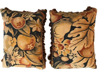 A Pair of 18th century French Tapestry Pillows