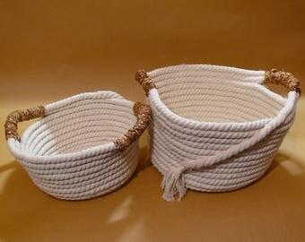 Set of rope baskets