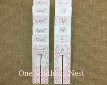 Closet Dividers, Baby Shower Gift, Newborn Baby Gift, Infant, Baby, Toddler, size dividers the perfect gift for any baby girl. Pink & White