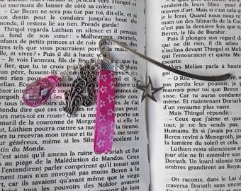 Fancy pink cat bookmark