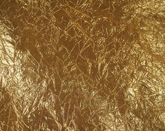 Metallics- Crushed Lame Fabric in Gold