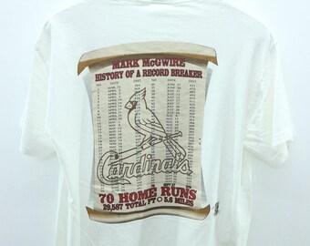 Vintage Mark McGwire Homerun Record Breaker T-Shirt Baseball Tees Street Wear Swag Size M