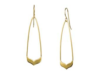 XS Long Whale Tail Earrings