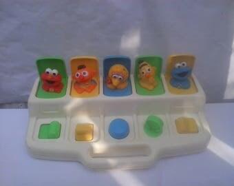 Vintage 1992 Playskool Poppin Pals Sesame Street Babies Pop Up Baby Toy Yellow
