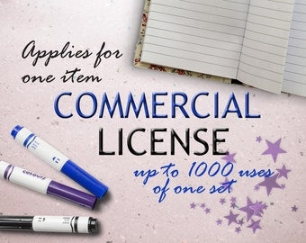 Commercial use license for a one set.