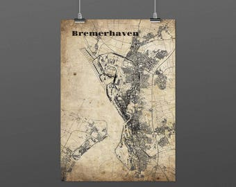 Bremerhaven DIN A4 / DIN A3 - print - turquoise