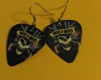 Guns and Roses Guitar Pick 1 Earrings