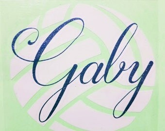 Volleyball Decal / with name decal/ yeti decal / custom colors / double layers / sport decal