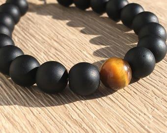 Adjustable bracelet, semi-precious stones and Silver 925