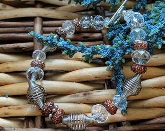 Edgy Orange Bracelet, Metal Bracelet, Valentine's Gift For Her, Punk Bracelet, Punk Jewelry, Orange Bead Bracelet | Jewelry for a Cause