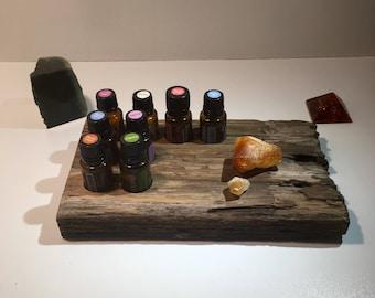 Essential Oils holder,Essential Oil storage rack, Essential Oils display, Reclaimed Wood Essential Oils stand, Designed to showcase Oils