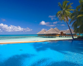 Paradise Beach, Escape to paradise, fresh bergamot,  bright orange,  rich amber,  exotic coconut,  vanilla,  almond, scented candles, candle