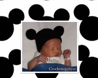 Infant Boys' Mickey Mouse Inspired Crochet Hat