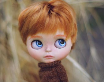 Dany•ooak custom Blythe doll boy male FAKE base doll
