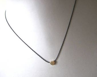 Black and gold Heart Necklace