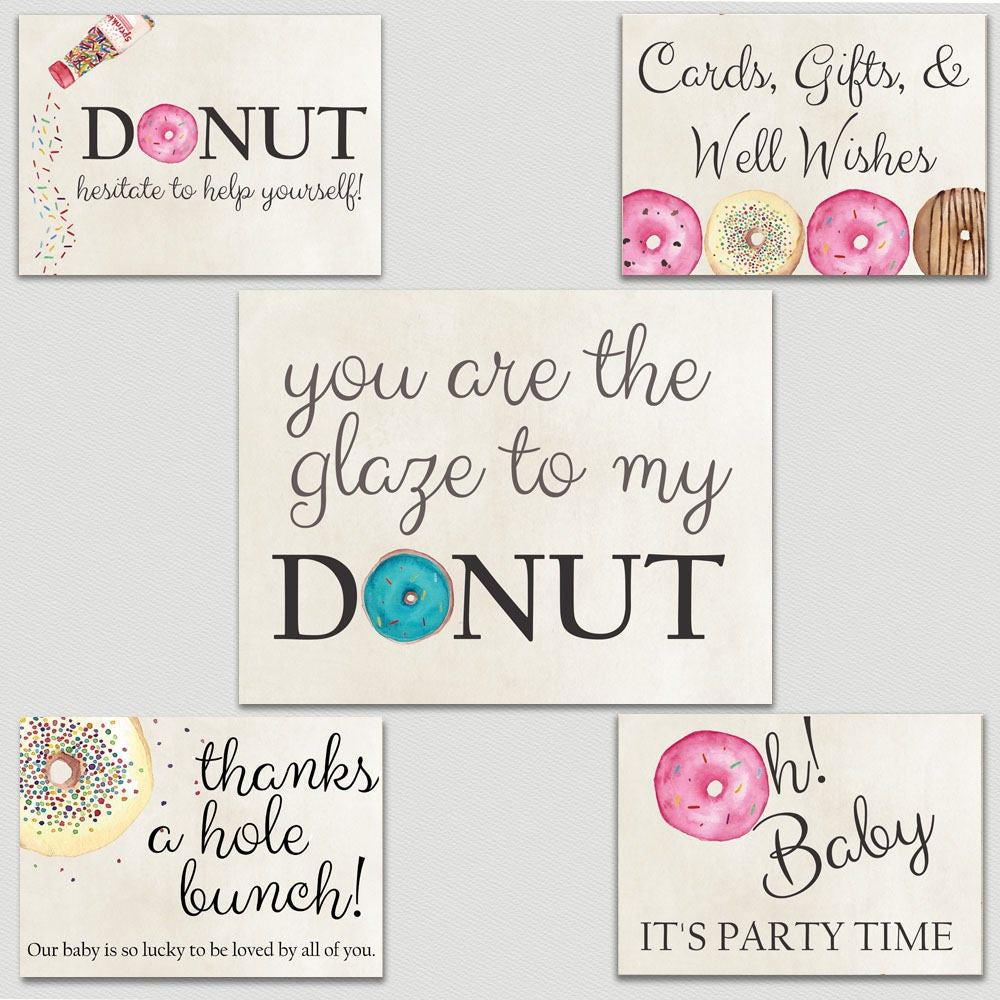 Donut Baby Shower Kit | Donut Shower Invitation | Baby Girl | Brunch ...