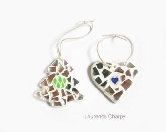 Christmas tree and Christmas mosaic heart