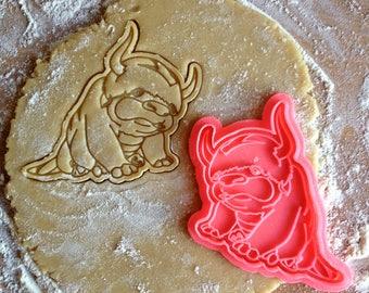 Appa cookie cutter. Last Airbender Appa Jumbo Plush cookie stamp. Avatar cookies