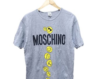 Hot Sale!!! Rare Authentic MOSCHINO Underwear Big Logo Spell Out T-Shirt Hip Hop Skate Swag Medium Size