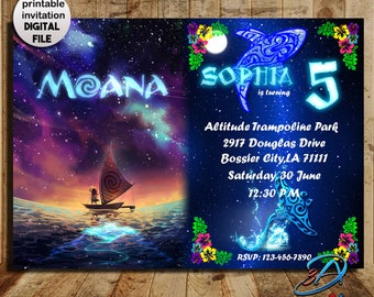 Moana Invitation, Moana Birthday, Moana Party, Moana Birthday Invitation, Moana, Invitation, Disney Moana, Moana, Vaiana