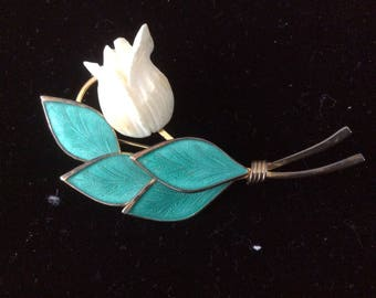 Bond Boyd Sterling Flower Brooch