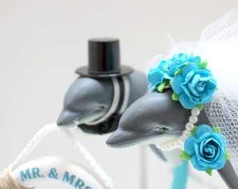 Dolphin Wedding Cake Topper Boho Animal