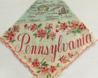 Pennsylvania State Hankie 1950's