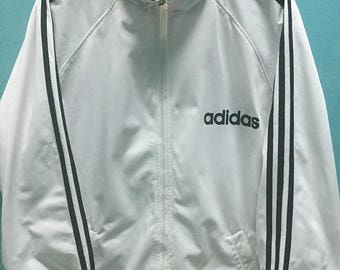 SALE 25% Vintage 90s Adidas Jacket Windbreaker Hip Hop Rap Size M