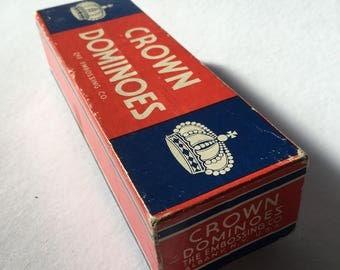 Vintage Dominoes, Crown Dominoes, The Embossing Company, Vintage Game, Vintage Toys, 1950's