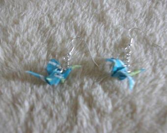 """""""Birds in flight"""" earrings with chain"""