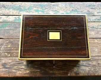 Ancienne boite à bijoux en bois de rose - Ancient rosewood box for jewelry
