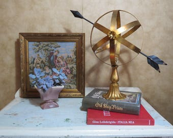 Rare Magnificent Vintage Italian Florentine Gilded Armillary Sphere in the Hollywood Regency Style