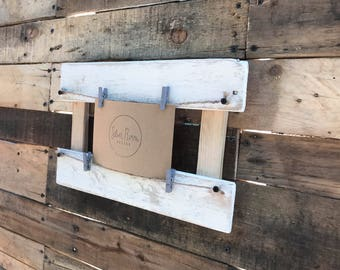 Rustic Picture Frame Holder / Photo Frame / Rustic Wall Art / Rustic Frame / Rustic Picture frame / Rustic Pallet Frame / Rustic Photo Frame