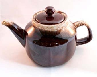 Vintage McCoy Brown Drip Teapot - McCoy Teapot - Brown Drip Pottery - Made in USA