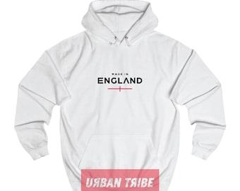 England Hoodie, Black Hoodie, White Hoodie, Unisex Top, Unisex Hoodie, World Cup, 90s Hip Hop, Streetwear, Streetdance, Urban Tribe™ 001