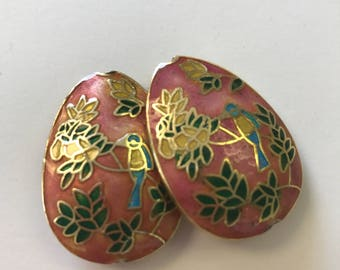 2pieces excellent quality teardrop shaped cloisonne bead 35mmx20mm 2beads