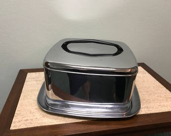 Vintage Lincoln BeautyWare Chrome Cake Pan Carrier