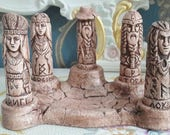 5 Slavic or Norse Deities with an Altar