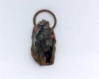 CLEARANCE NECKLACE, Petrified Wood Pendant, Copper Pendant, Petrified wood necklace, petrified wood jewelry, boho necklace, boho jewelry