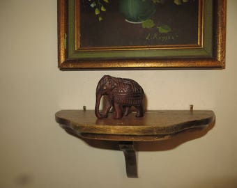 Miniature carved wooden elephant w/free ship