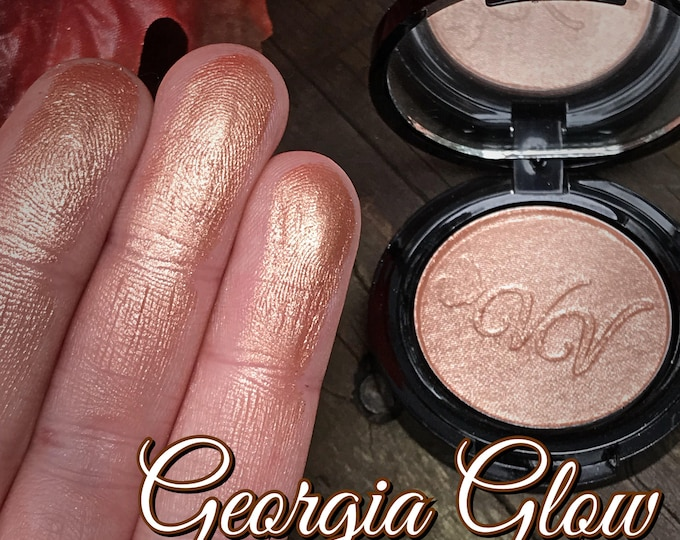 GEORGIA GLOW - Pressed Highlighter/ Eyeshadow / Topper - Peach based Copper Bronze