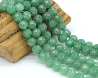 Green Strawberry Quartz Beads 8mm Natural Green Lepidocrocite Beads A+ quality Green Quartz Beads Green Mala Green Gemstone Semi Precious