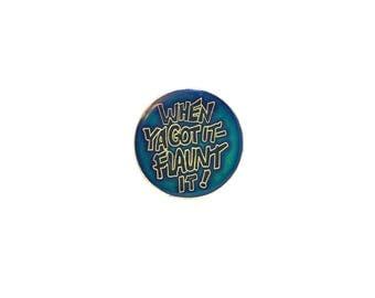 Pin Metal Enamel Vintage Funny