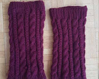 Cabled Leg Warmers
