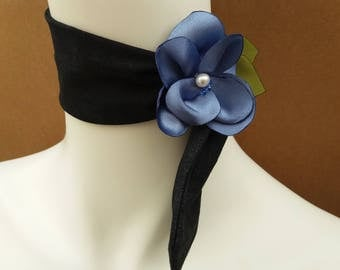SHINGO-Cotton Flower Choker