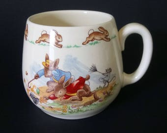 Royal Doulton Bunnykins Windy Day Mug Baby Child Mug Baby Shower Gift